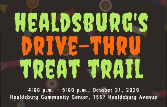 Image of flyer of Drive-Thru Treat Trail