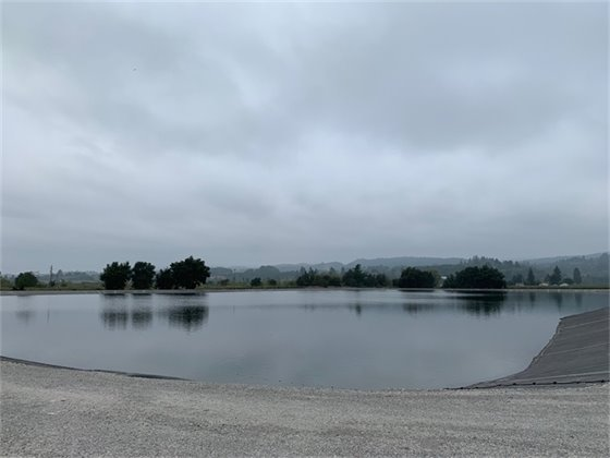 Image of recycled water pond
