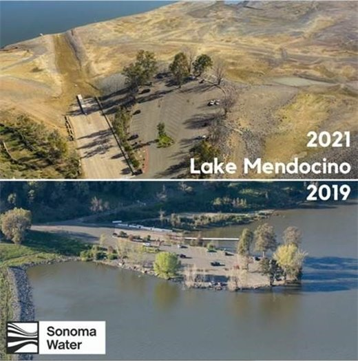 Water levels down at Lake Mendocino