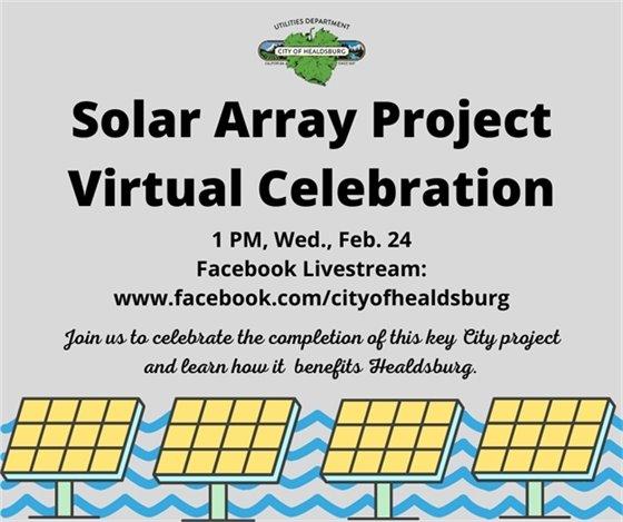 Solar Array Project Virtual Celebration image of solar panels