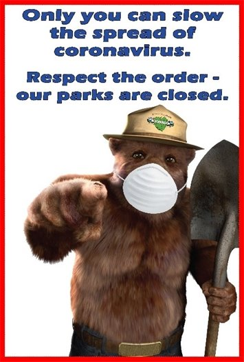 Graphic says respect the order. Our parks are closed.