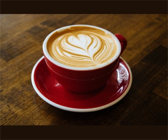Cappuccino in red cup