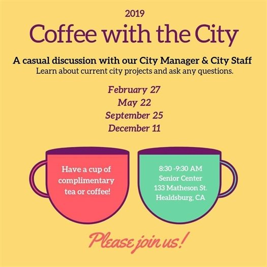 Coffee with the City flyer