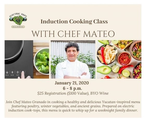 Image of Chef Mateo's Jan. 21 Induction Cooking Class
