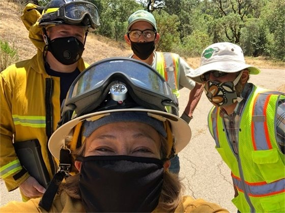 Workers at Healdsburg Ridge & Open Space