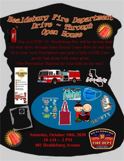 October 10 is the Fire Department Drive Through Open House