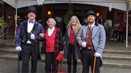 Staff dressed up for Senior Appreciation Dinner