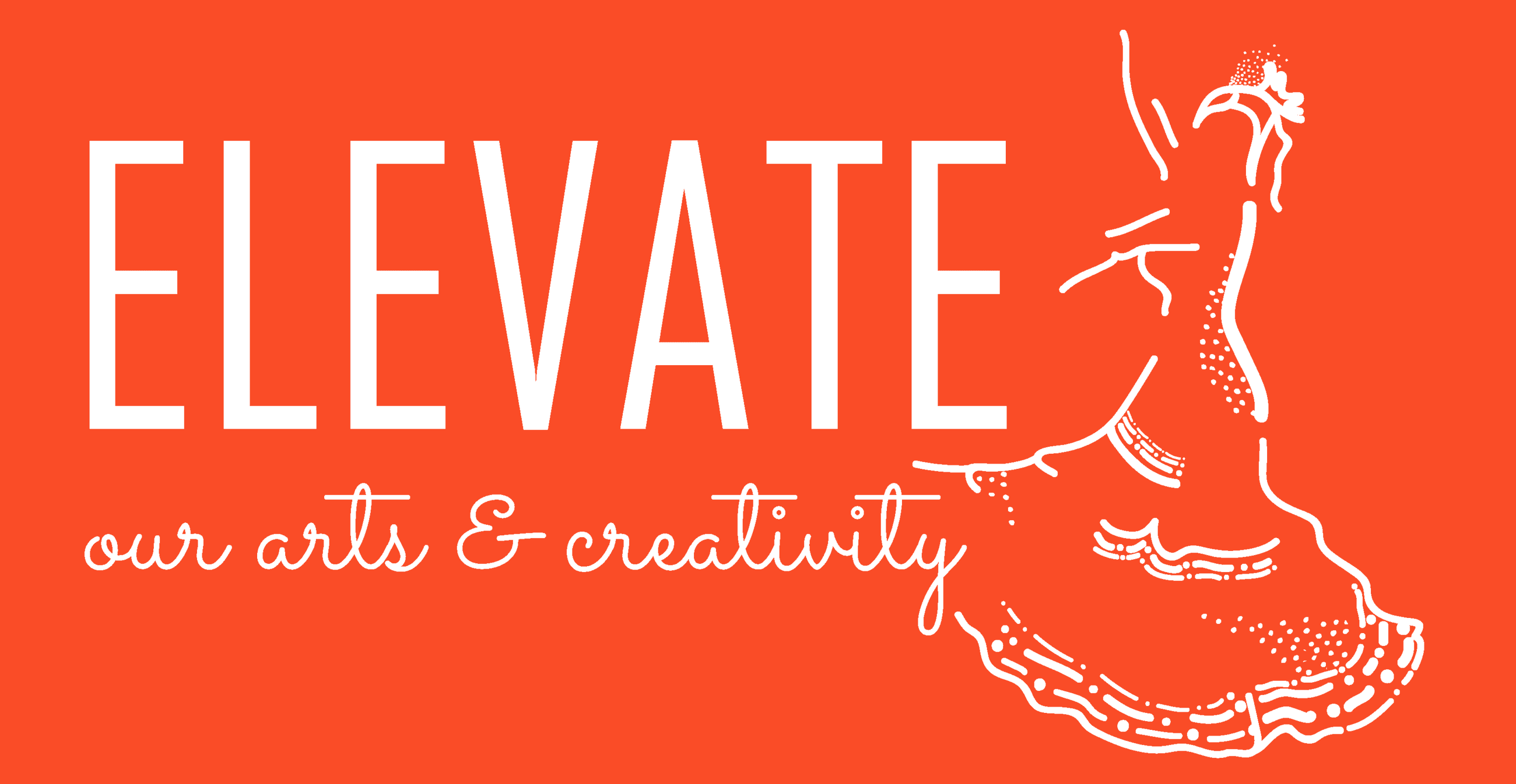 Elevate Our Arts and Creativity__Dancer_White Logo_Orange back