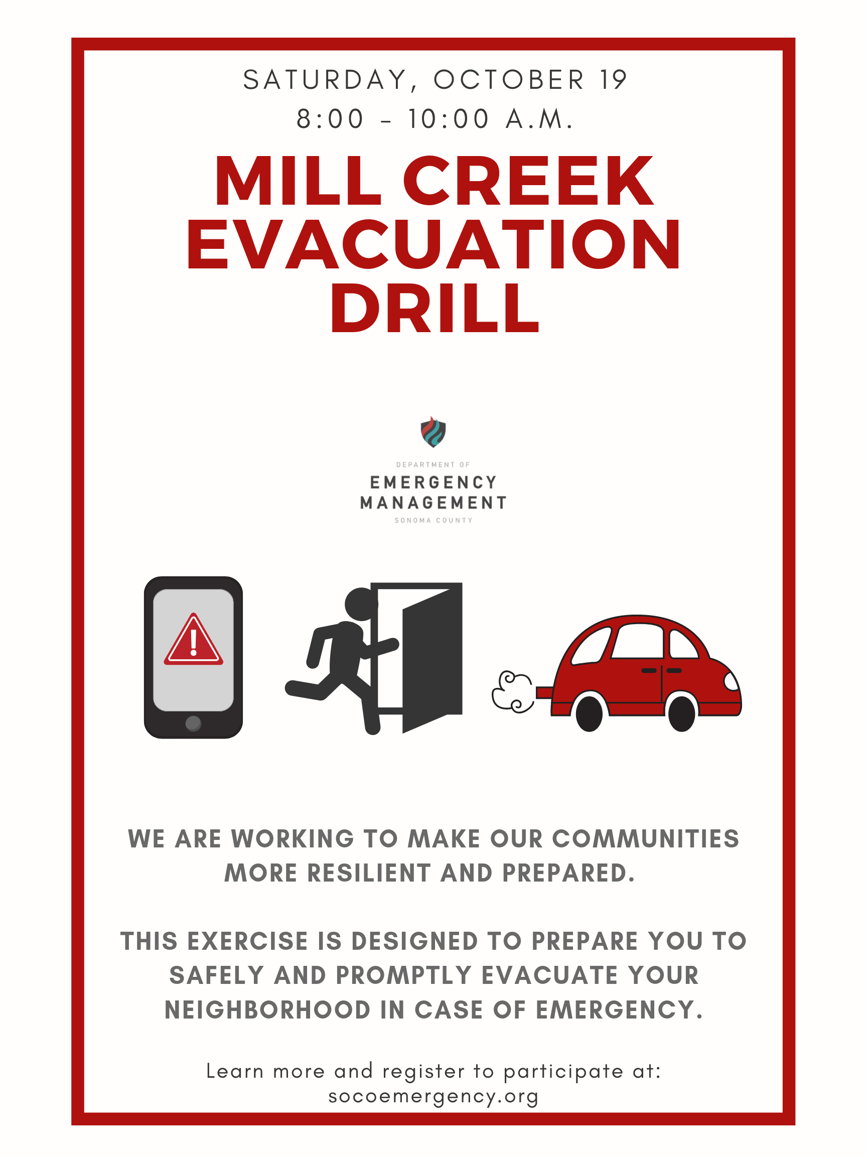 Information on Mill Creek Evacuation Drill Exercise