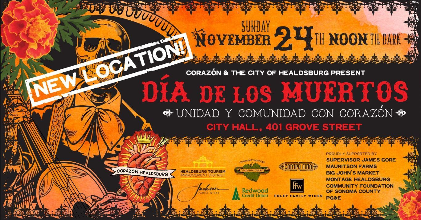 Dia de los Muertos flyer for November 24 2019