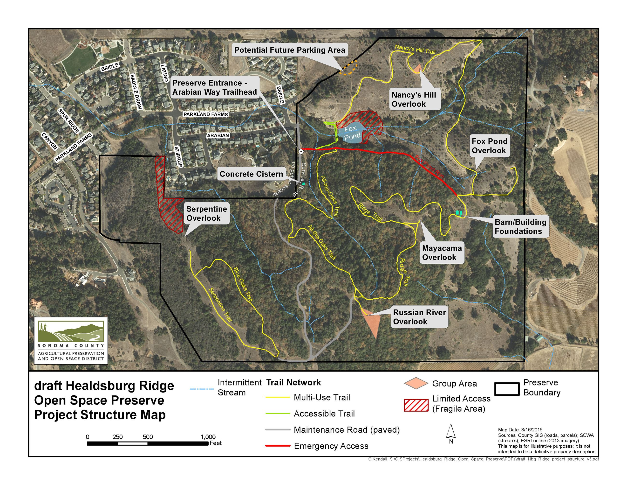 Healdsburg Ridge Project Map