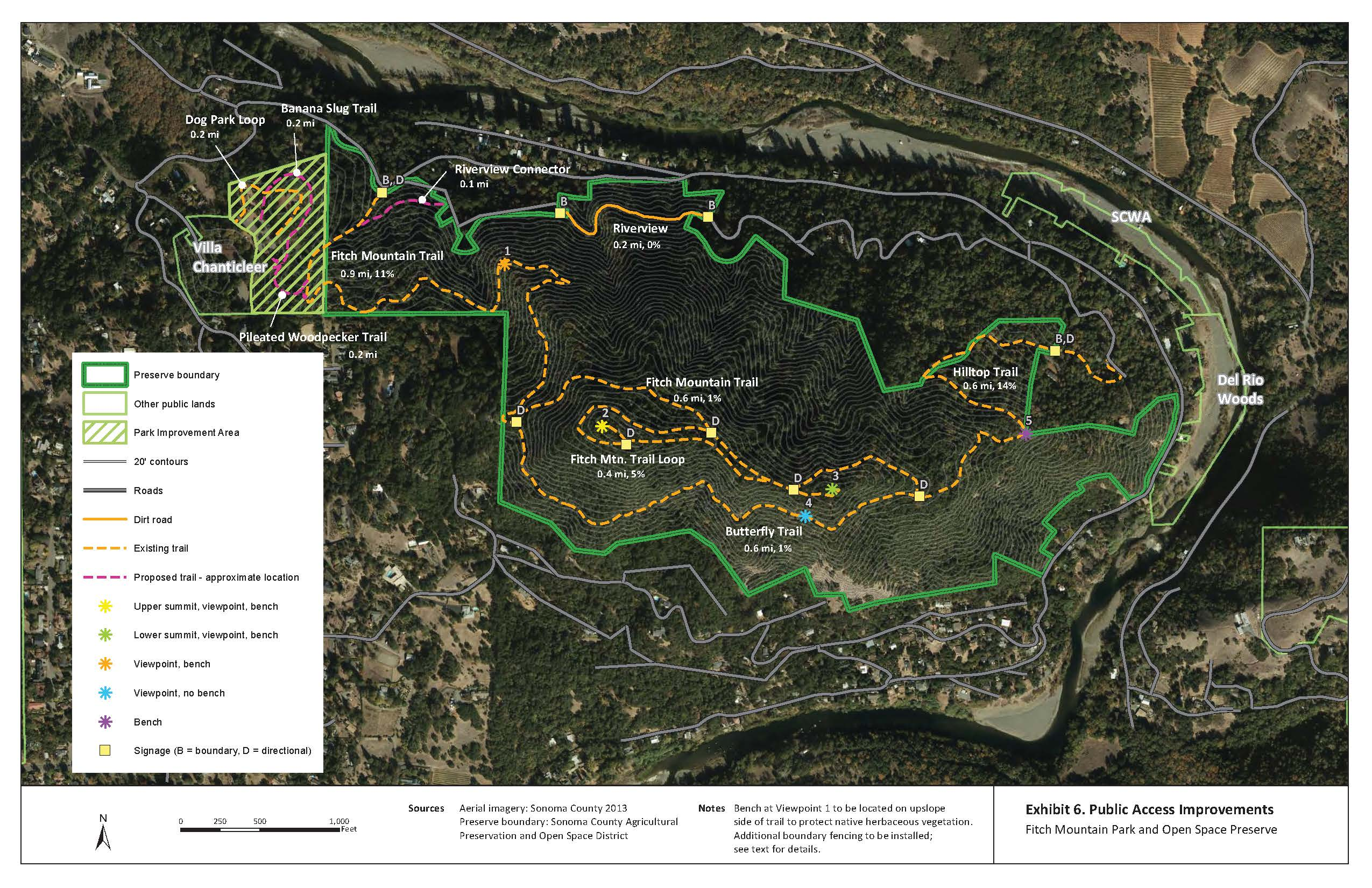 Fitch Mountain Trail Map