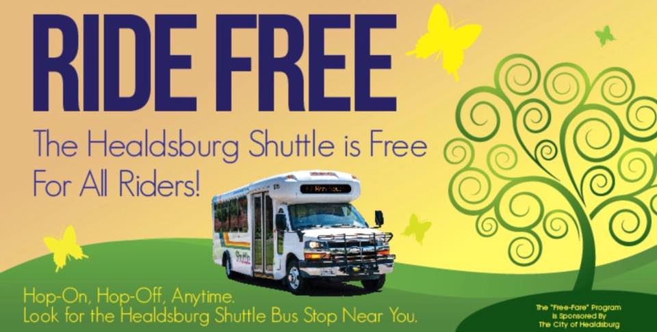 Ride Free Healdsburg Shuttle