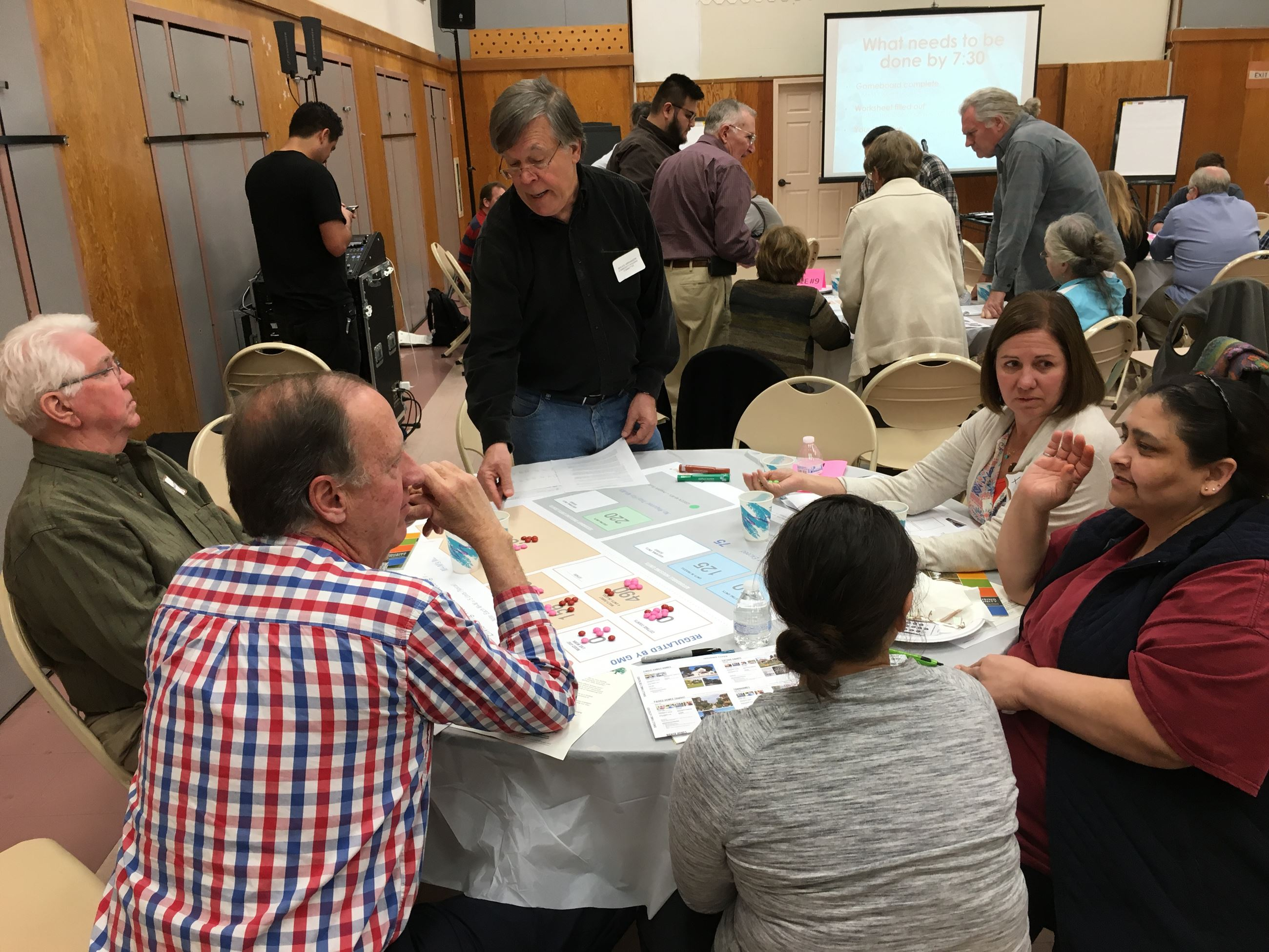 Members of the public particpanting in the group work activity